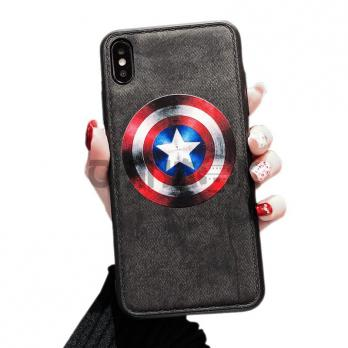 Чехол из кожи для iPhone - CAPTAIN AMERICA (Капитан Америка)
