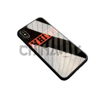 Чехол Off White Temper Case Чёрный iPhone 7/8/7+/8+/X/XS/Xr/XS Max