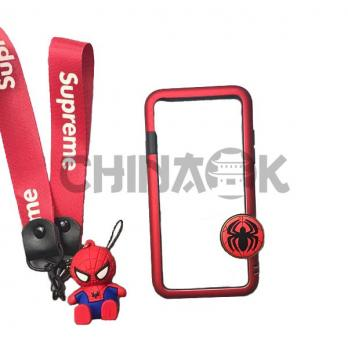 Бампер Marvel Spider-Man + ремень Supreme + Брелок для iPhone X/XS